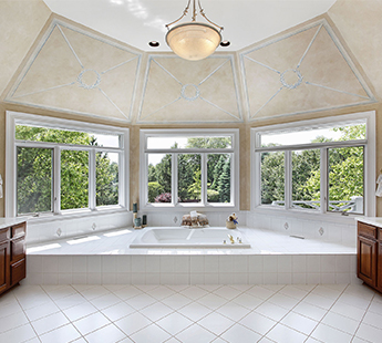 Bathroom With Many Large Windows